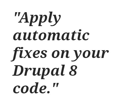 Drupal 8 to Drupal 9 upgrade-Drupal-Rector- apply automatic fixes
